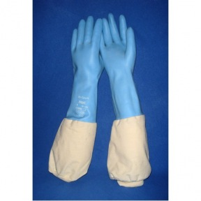 Gants latex + coton