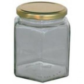 Pot verre hexa 500g sans couvercle 100 p