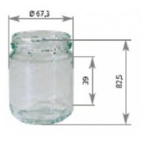 Pot verre rond 250g sans couvercle 100 p