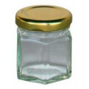 Pot miellinette hexa 50 g + couvercle  métal. 100 p