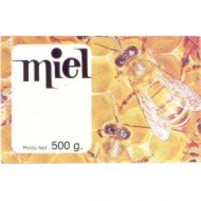 Etiquettes gommées PRESTIGE Miel 500 g 100 p