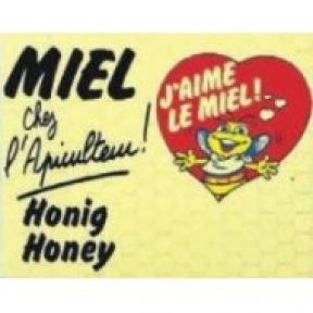Enseigne MIEL CHEZ L'APICULT.  50/40