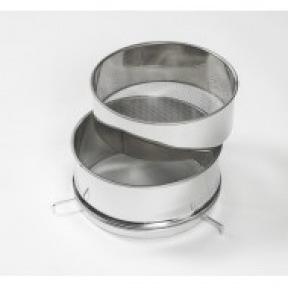 Filtre double inox D:30 cm avec support