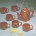 Service à thé 7 pièces en grès