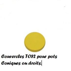 Couvercle plastic jaune à visser to 82 (pour 500g) 100 p