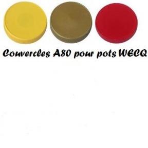 Couvercle plastic à visser A 80 pour pot 500g WECQ 100 p